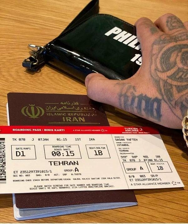 ساسی مانکن در راه بازگشت به ایران