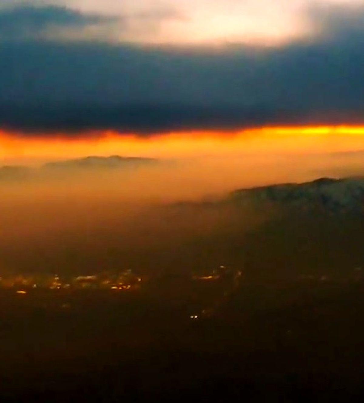 تصاویر آخر الزمانی از آلودگی هوای تهران + عکس و فیلم