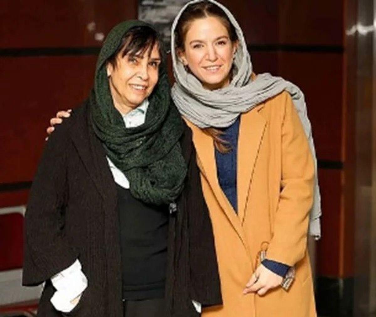 ستاره پسیانی در فیلم فجر از مادرش رونمایی کرد+عکس