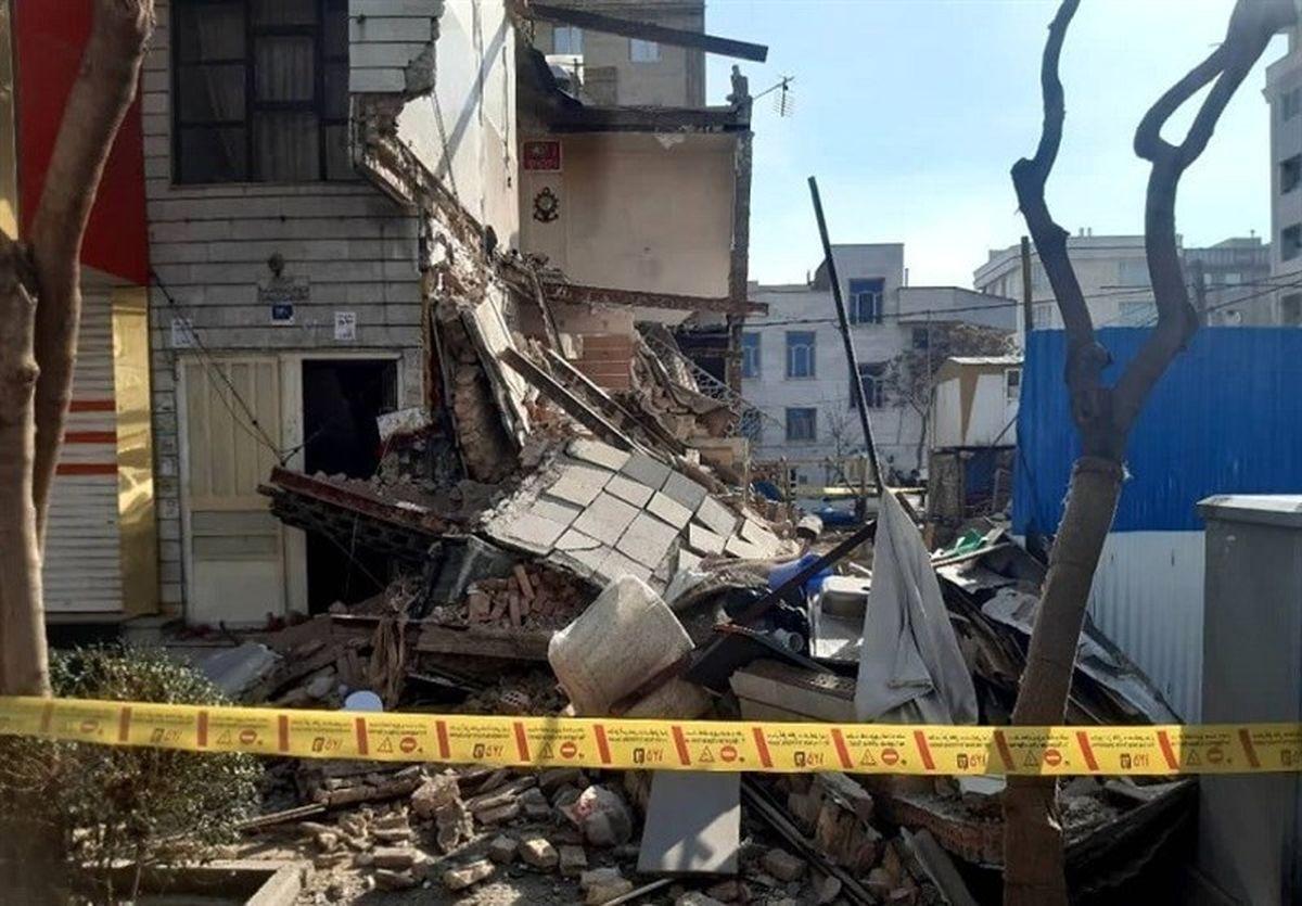 فیلم عجیب از لحظه ریزش ساختمان در همدان + فیلم