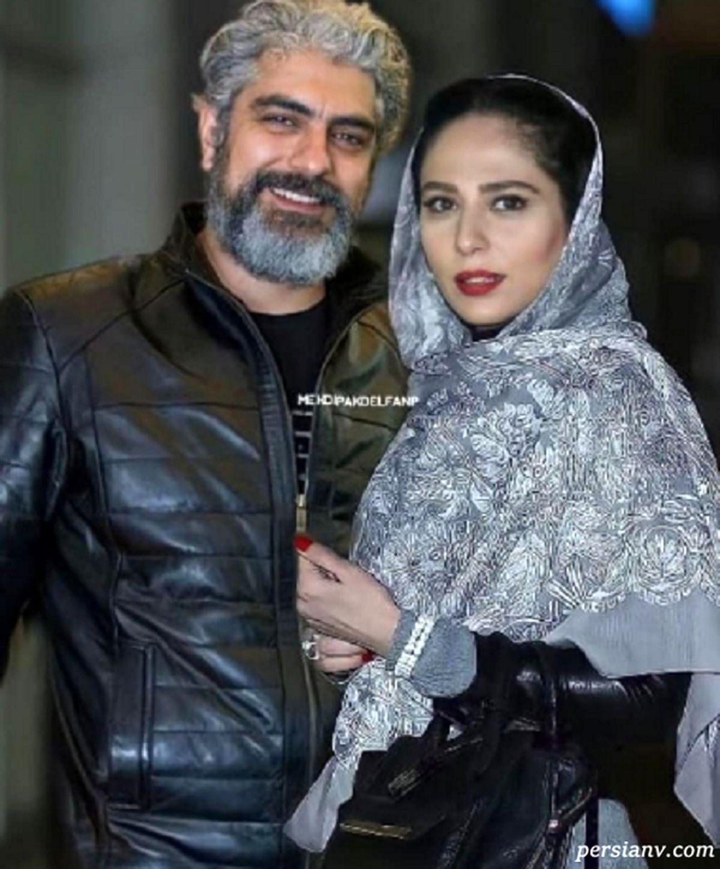 لباس عجیب و غریب همسر مهدی پاکدل غوغا کرد + عکس